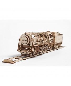 """Wooden 3D puzzle """"Steam Locomotive with Tender"""""""